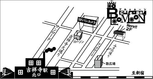 吉祥寺駅からお店までの地図の画像
